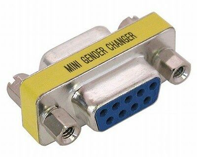 Gender Changer 9 pin Female to F Serial RS232 Adapter