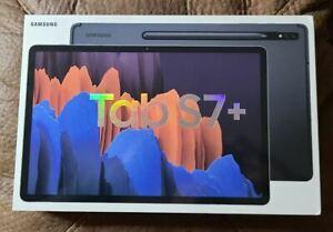 Samsung Galaxy Tab S7+ 256GB, Wi-Fi, 12.4 in - Mystic Black (New, sealed box)