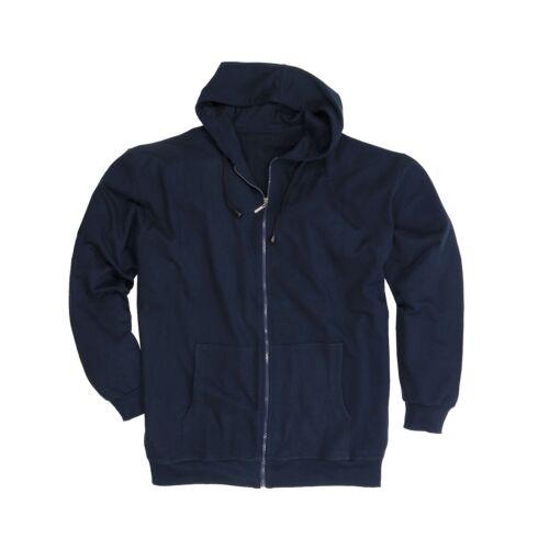 Sweatjacke con cappuccio 100/% cotone per uomo in Oversize Adamo 2xl 14xl