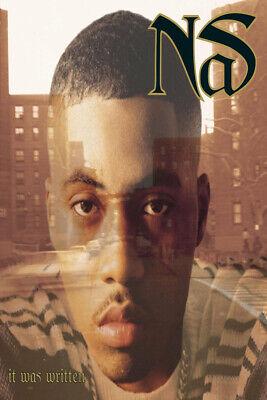 A876 Art fabric Nas It Was Written Cover Poster 1996 Album Hip Hop 14x21 24x36