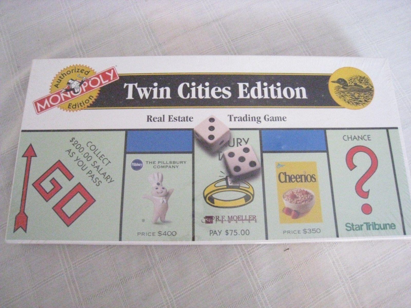Monopol twincities ausgabe immobilien mit spiel - neue versiegelten kiste selten