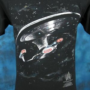 vintage-90s-STAR-TREK-THE-NEXT-GENERATION-T-Shirt-XS-sci-fi-tv-convention-thin