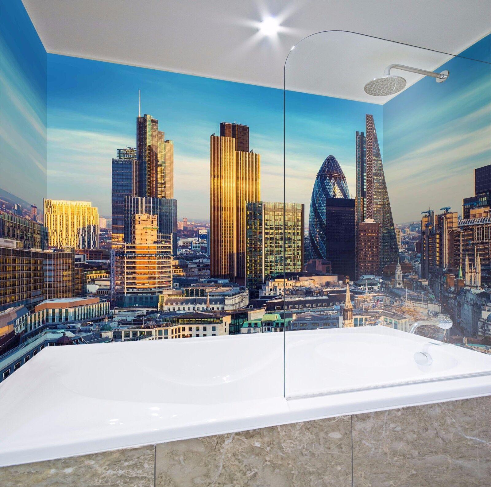 3D City Building 619 WallPaper Bathroom Print Decal Wall Deco AJ WALLPAPER AU
