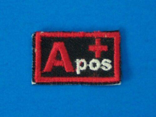 Biker medical Information Patch for Vest Jacket Blood Group Type A positive A