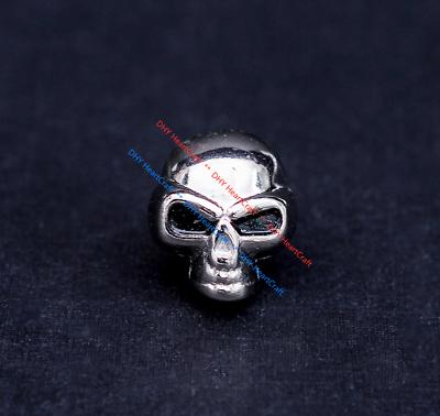 10X Motard argent deux tons et Alien Skull Leathercraft Conchos Bouton Rivet Back