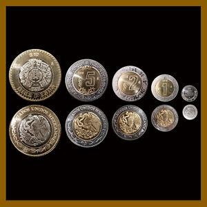 Details about Mexico 50 Centavos 1 2 5 10 Pesos (5 Pcs Coin Set), 2018 Unc  Mint