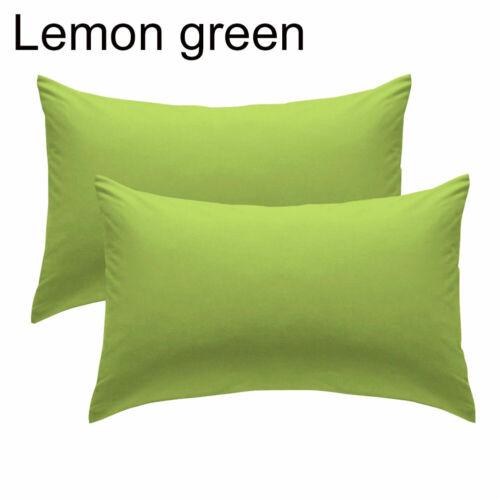 HD/_ 2Pcs 50x70cm Soft Solid Color Cushion Cover Pillow Case Home Sofa Chair Deco