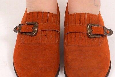 Vintage Cuero De Gamuza Hardcore utilidad Hardcore Western zapatos talla 7