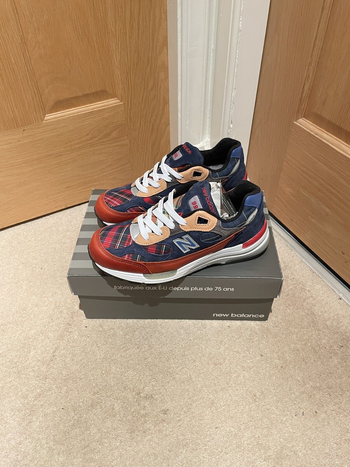 New Balance 992 USA M992AD CNCPTS Exclusive Plaid Patchwork - UK7/US7.5