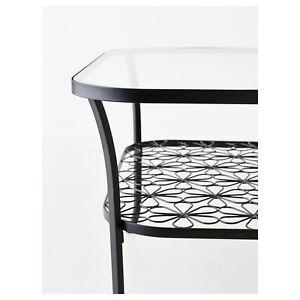 Details zu IKEA Tisch Couchtisch Wohnzimmer Schwarz Glas neuwertig Klingsbo  Wintergarten