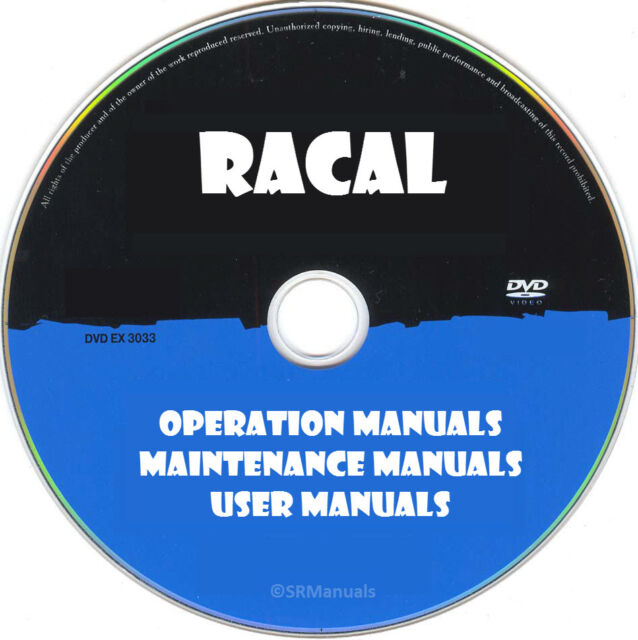 Racal Operation Maintenane Service Manuals  U0026 Schematics