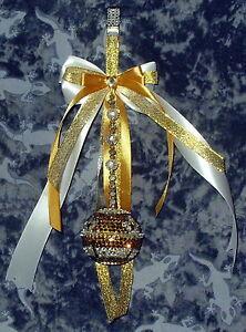 Baxter's Baby Bell Bling Romany Hanging Pram Charme, Baptême, Cadeau De Noël.-afficher Le Titre D'origine