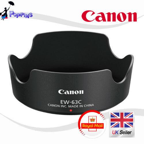 Nuevo Genuino CANON ew-63c Parasol para Canon EF-S 18-55mm F/3.5-5.6 Es Stm