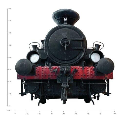 Black Steam Engine Train Wall Decal Sticker WS-43119