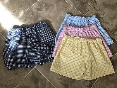 Caritatevole School Uniform Gingham Breve O Mutandoni Più Colori + 2 Accessori Per Capelli-mostra Il Titolo Originale