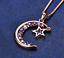 miniature 19 - Star Moon Necklace Silver Crystal Jewellery 925 Chain Pendant Gift Woman Girl CZ