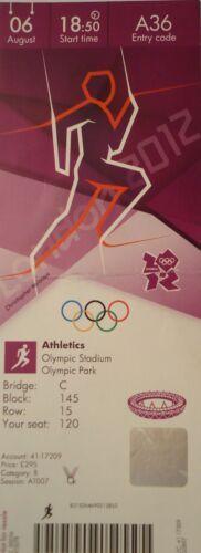 TICKET Olympia 6.8.2012 Olympic Stadium Leichtathletik Athletics A36