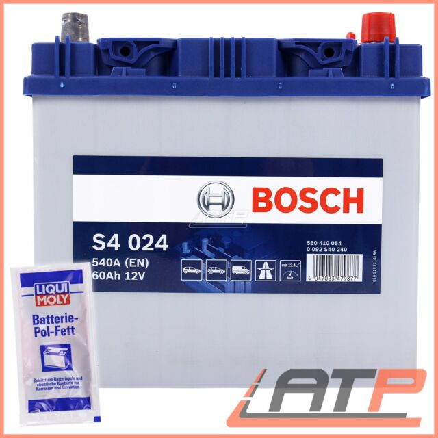BOSCH S4 024 60Ah 540A 12V AUTO-BATTERIE STARTERBATTERIE+10g POL-FETT 31838361