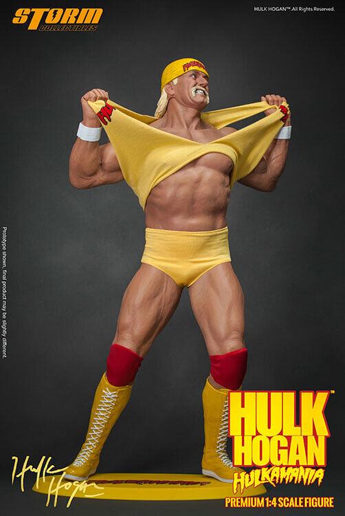 Hulk Hogan Hulkamania 1 4 Scale Premium Statue Storm Collectibles in braun Box