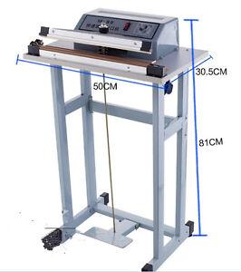 Details about Foot Pedal Impulse Sealer ,heat sealing machine,Plastic Bag  sealer 600mm*3mm