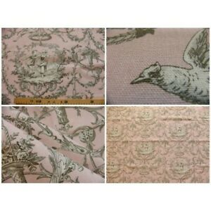 Coupon-fabric-toile-de-jouy-colin-maillard-pink-background