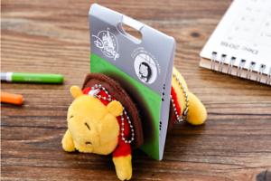 Disney-winne-the-pooh-winnie-bear-Keychain-keyring-Plush-Toy
