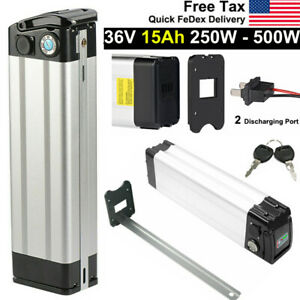 SilverFish Lithium Battery Pack 36V 15Ah Fr 500W Electric Bike E-Bike W// Charger