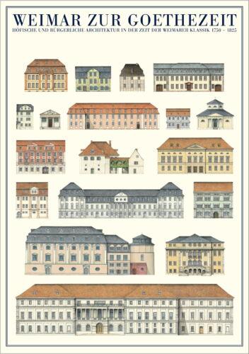 Architektur Weimar Weimar zur Goethezeit Poster Kunstdruck Bild 59,4x84,1cm