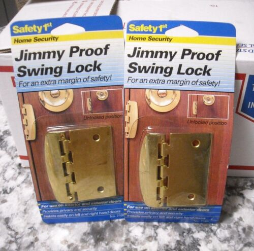 NEW SEALED Safety 1ST Jimmy Proof Swing Lock Hinge LOT OF 2