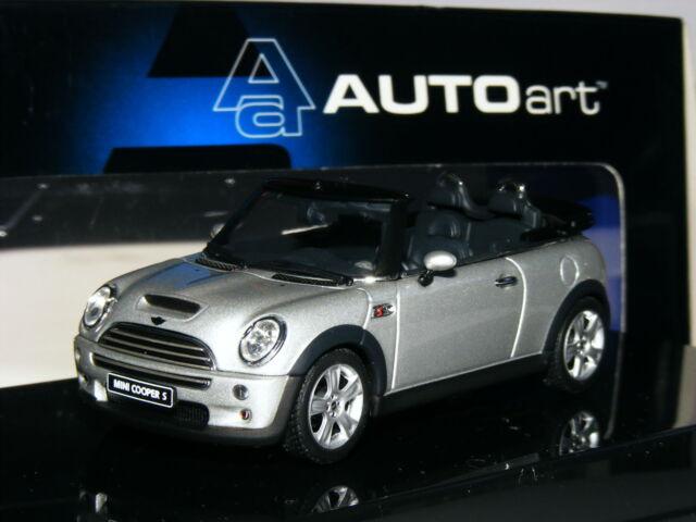 Autoart 54848 2005 Bmw Mini Cooper S Cabriolet Pure Silver 1 43