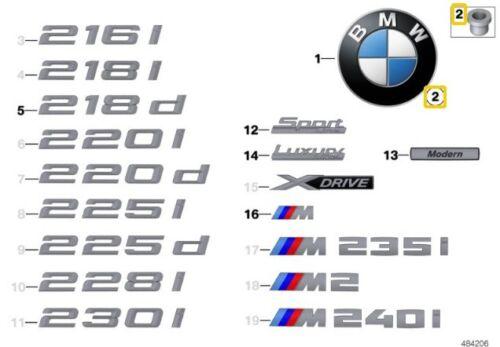 BMW F22 F23 F45 E46 F30 F31 F32 F33 E39 da 51148209932