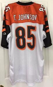 71c18813 Details about Reebok Chad Johnson #85 Cincinnati Bengals On Field White  Jersey Men's Size XXL