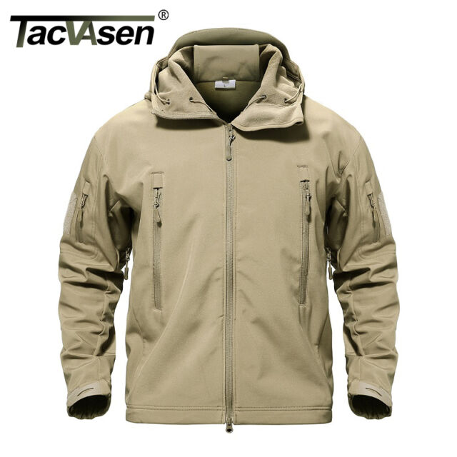 b11bcc772542e TACVASEN Waterproof Mens Jacket Tactical Winter Coat Soft Shell ...