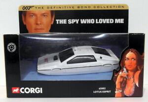 CORGI circa 1/36 SCALA DIECAST 65002 LOTUS ESPRIT LA SPIA CHE MI AMAVA 007 Bond