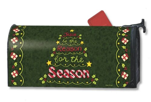 JESUS is the REASON FOR THE SEASON Christmas Magnetic Mailbox Cover Made in USA