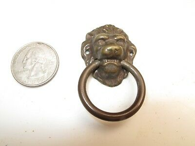 ANTIQUE CAST IRON VICTORIAN ORNATE DRAWER PULL HANDLE EASTLAKE LYRE 1880/'S A5