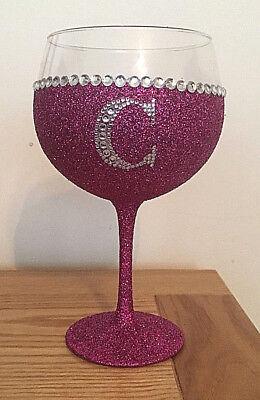 Pink Glitter large balloon Gin glass personalised stunning