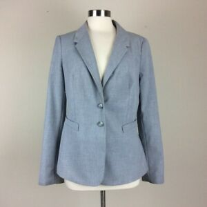 Womens-The-Limited-Two-Button-Grey-Blazer-Career-Suit-Jacket-Year-Round-Size-12
