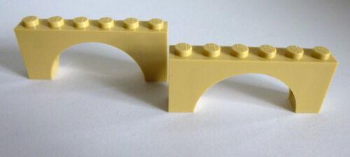 2 x LEGO® 3307//15254 Basicsteine Brückensteine 1x6x2 beige,tan,sandfarben Neu