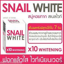 Snail White Gluta Glutathione x10 Whitening Beauty Face Fair Skin Acne Soap