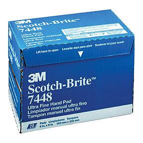 Scotch-Brite Ultra Fine Hand Pad Gray 3M Company 7448 3M