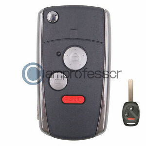 2-1-Button-Conversion-Flip-Remote-Key-Shell-Fob-for-Honda-Civic-Ridgeline-Fit