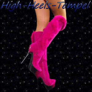 Designer-Luxus-Stiefel-Pink-Sexy-High-Heels-Party-Shoe-35-41