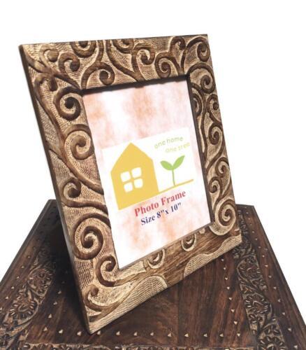 Oak Tree of Life Design Antique Effet blanc marron sculpté en bois cadre photo