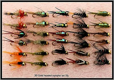 Vissen Trout Fishing Flies Nymphs Barbed BARBLESS Hooks 10 12 14  33J-1 Aas, vliegen