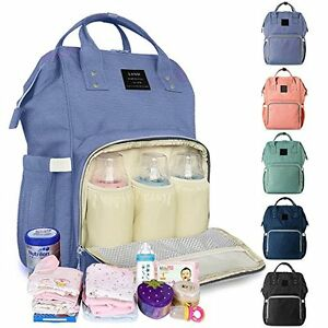 LAND Maternity Nappy Diaper Bag Large Capacity Baby Mummy Bag Travel Backpack