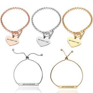 Personalized-Stainless-Steel-Heart-Name-Engraved-Bracelet-Family-Custom-Gift-DIY