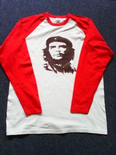 Extra extra large size Che Guevara black logo red /& white cotton baseball shirt
