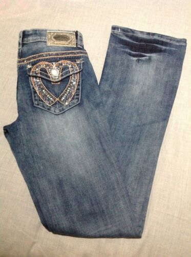 Denim Couture Bootcut Jeans Heart
