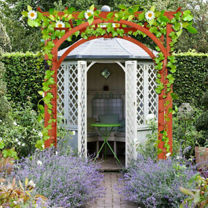 Details About Outdoor Wooden Arbor Garden Trellis Pergola Archway Wedding Climbing Rose Arch